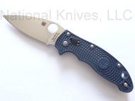 "Spyderco Manix 2 C101PDBL2 Folding Knife, 3-3/8"" Plain Edge S110V Blade, Dark Blue FRCP Handle"