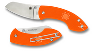 "Spyderco Pingo C163POR Folding Knife 2.35"" PlainEdge Blade Orange FRN"