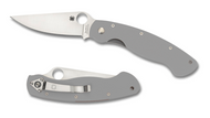 "Spyderco Military C36GPGY Sprint Run 4"" PlainEdge CruWear Blade, Gray"