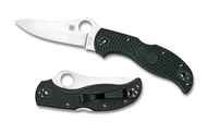 "Spyderco Stretch C90PGRE Knife, 3.5"" Plain Edge ZDP-189 Blade, Green"