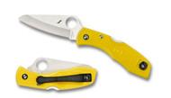"Spyderco Salt 1 C88PYL Folding Knife, 3"" Plain Edge Blade, Yellow FRN Handle"