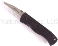 "Emerson Knives CQC-7B SFS Tanto Folding Knife, Satin 3.3"" Partially Serrated 154CM Blade, Black G-10 Handle, NO Wave"