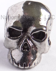 "Schmuckatelli Classic Skull Bead CAR, 3/16"" Hole, Antique Rhodium Plated"