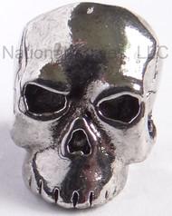 """Schmuckatelli Classic Skull Bead CAR, 3/16"""" Hole, Antique Rhodium Plated"""