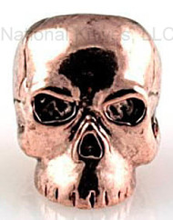 "Schmuckatelli Classic Skull Bead CAC, 3/16"" Hole, Antique Copper Plated"