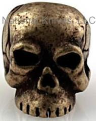 "Schmuckatelli Classic Skull Bead CRBO, 3/16"" Hole, Roman Brass Oxide Plated"