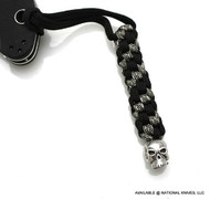 Schmuckatelli Classic Skull Lanyard CBLBDCP, Solid Pewter Bead, Black and Digi Camo Paracord
