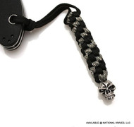 Schmuckatelli Emerson Skull Lanyard EBLBDCP, Solid Pewter Bead, Black and Digi Camo Paracord