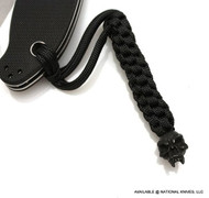 Schmuckatelli Fang Skull Lanyard FBLBB, Black Oxide Finish Bead, Black Paracord
