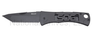 "SOG Micron 2.0 FF91-CP Folding Knife, Black 2.25"" Plain Edge Blade"