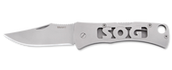 "SOG Micron 2.0 FF93-CP Folding Knife, 2.25"" Plain Edge Blade, Stainless Steel Handle"