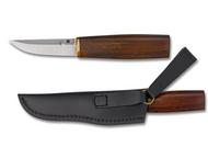 "Spyderco Puukko FB28WDP Fixed Blade Knife, 3.33"" Plain Edge Blade, Arizona Ironwood Handle, Sheath"