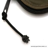 Schmuckatelli Fang Skull Zipper Pull FSZPB, Black Oxide Finished Bead, Black Paracord