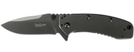 "Kershaw Cryo II 1556Ti Assisted Opening Folding Knife, Gray 3.25"" Plain Edge Blade, Gray Stainless Steel Handle"