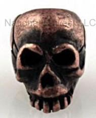"Schmuckatelli Mini Joe Skull Bead JRCO3.16, 3/16"" Hole, Roman Copper Oxide Plated"