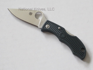 "Spyderco Ladybug 3 LGREP3 Folding Knife, 1.94"" Plain Edge ZDP-189 Blade, British Racing Green Handle"