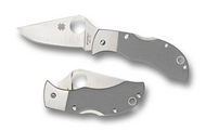 "Spyderco Manbug MGGYP Folding Knife, 1.94"" Plain Edge VG-10 Blade, Gray G-10 Handle"
