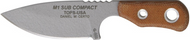 "TOPS M1 Sub Compact M1SBCT-01 Fixed Blade Knife, Gray 2-3/8"" Plain Edge Blade, Sheath"