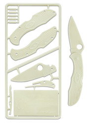 Spyderco Delica 4 PLKIT1 Plastic Knife Kit, Glow In The Dark Model