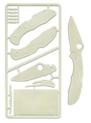 Spyderco Delica 4 PLKIT1 Plastic Knife Kit, Glow In The Dark Model