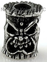 "Schmuckatelli Ona Tiki Bead OP, 3/16"" Hole, Solid Pewter"