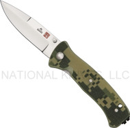 "Al Mar Mini SERE 2000 MS2KDC Folding Knife, 3"" Plain Edge Blade, Digital Camo G-10 Handle"