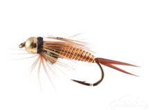 Prince Nymph, Hot Wire Red-Yellow, Tungsten Bead Head