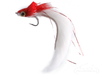 Diver, Rabbit Strip, Weedless, Red/White