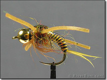 Copper John Nymph, Wired, BH, RL, Golden