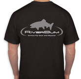 RiverBum Black T-Shirt