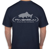 RiverBum navy tshirt