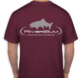 RiverBum burgundy red t shirt