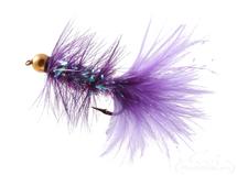 Krystal Flash Bugger, Bead Head, Purple