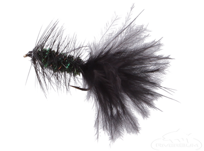 Wooly Bugger, Peacock-Black