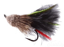 Muddler Minnow, Marabou, Black, Salmon Hook