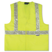 14531 ERB S17 Class 2 Woven Oxford Hi Viz Lime Large Safety Apparel - Aware Wear & Hi Viz Ts
