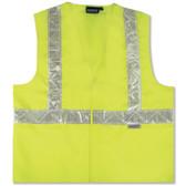 14538 ERB S17P Class 2 Woven Oxford Hi Viz Lime Medium Safety Apparel - Aware Wear & Hi Viz Ts