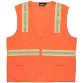 61750 ERB S103 Non-ANSI Surveyor Hi Viz Orange XL Safety Apparel - Aware Wear & Hi Viz Ts