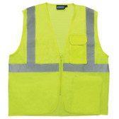61875 ERB S169 Class 2 Mesh Hi Viz Lime XL Safety Apparel - Aware Wear & Hi Viz Ts