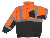 62178 ERB S106T Tall Class 2 Bomber Jacket Hi Viz Orange and Black 4X Safety Apparel - Aware Wear Cold Weather Wear