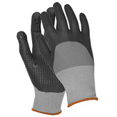 21229 ERB N300 Gray Nylon Nitrile Dots LG Gloves