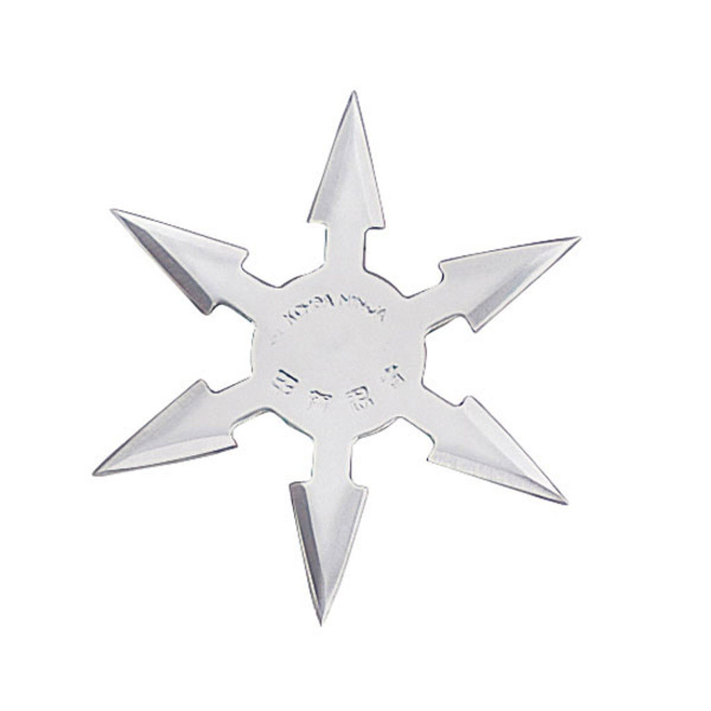 """4"""", 6 point Moon throwing star"""