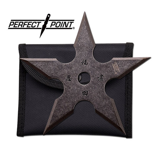"Perfect Point 4"", 5 point throwing star, stonewashed"