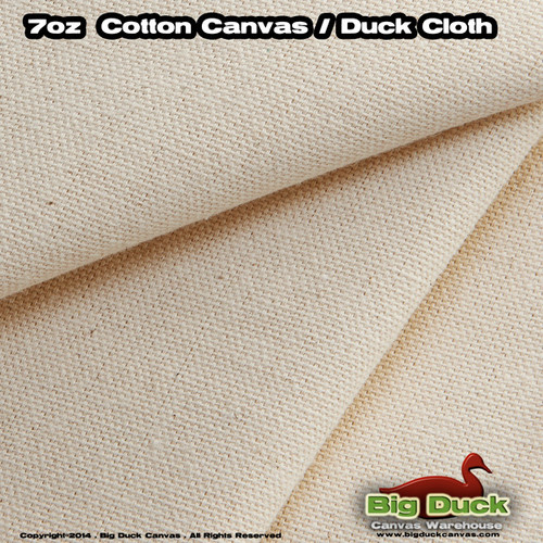 """Wholesale Preshrunk 7oz/60"""" Natural Canvas Discounted Factory Second Fabric"""