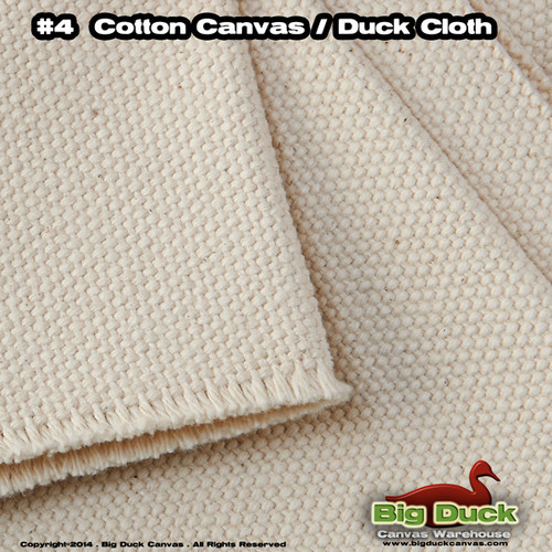 "#4 Cotton Canvas Fabric / Duck Cloth (24oz) -120""  NATURAL Military Specs CCC-C-419G"