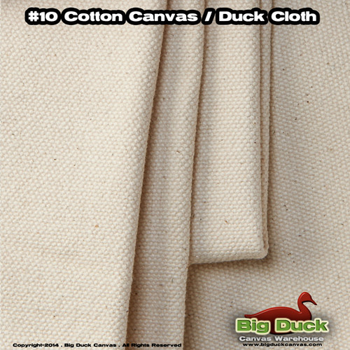 "#10/120"" Cotton Canvas Fabric / Duck Cloth (15oz) - NATURAL"
