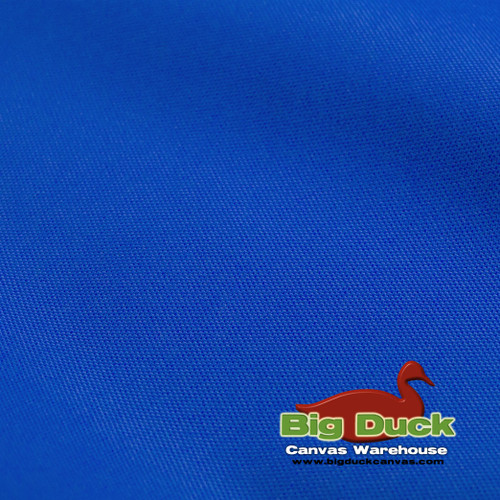 denier coated polyester canvas royal blue