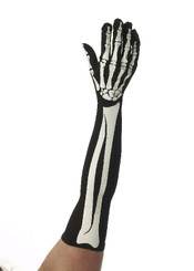 Extra Long Skeleton Gloves