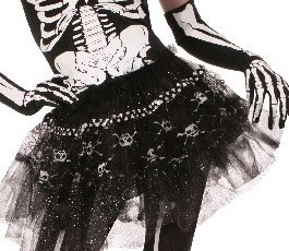 Bone Collection Skeleton Tutu Skirt