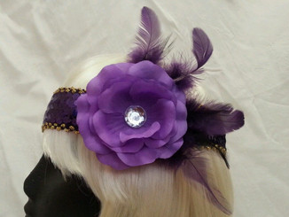 Purple Flower 1920's headdress/fascinator